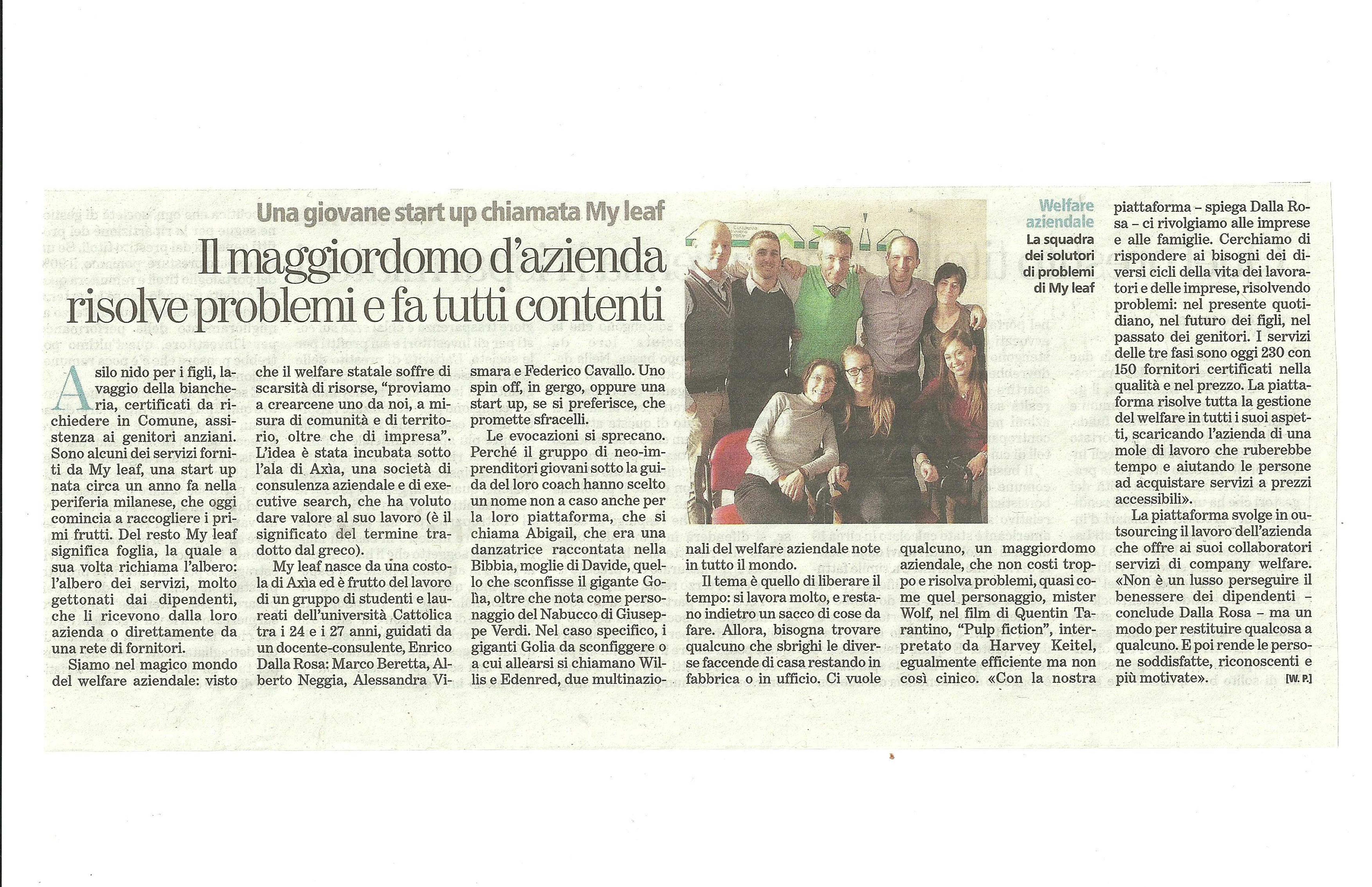 2013 02 25 La Stampa Articolo Walter Passerini